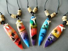 SHARK TEETH NECKLACES X 5 PIECES SHARKS TOOTH SURF party bags boys mens