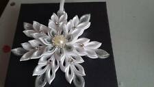 Kanzashi Snowflakes-Xmas Tree Decorations Ornaments