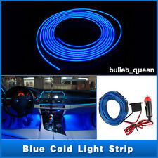 1M Blue EL Wire Car Interior Decor Fluorescent Neon Strip Cold light Tape 12V