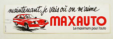 Autocollant MAXAUTO - Le maximum pour l'Auto -   Sticker collector