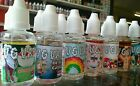 VG VAPE - 5x 30ml Bottles 63 Flavours E Liquid Juice 0mg Premium High Quality