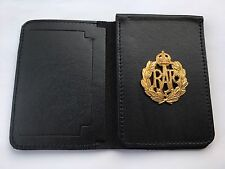 Leather Police Style Wallet Warrant Card Holder RAF Royal Air Force Badge