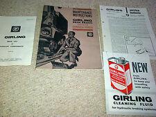 Instrucciones de mantenimiento Girling frenos de tambor equipado a vehículos comerciales 1963
