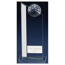 Colony Club Glass Golf Trophy - Free Engraving - Golfing Golfer KB006A