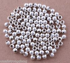 800 pcs silver plated loose spacer beads findings Bracelets necklace charms 3mm