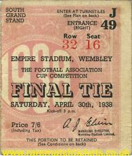 reproduction 1938 PRESTON NORTH END HUDDERSFIELD TOWN fa cup final ticket [RMT]