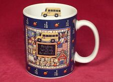 1996 Lang and Wise Mug Cup School Days Susan Winget Reading Writing School Bus
