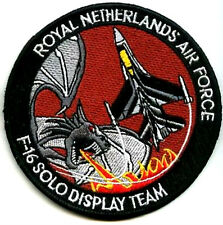 FIGHTING FALCON  NETHERLAND AIR FORCE F-16 SOLO DISPLAY TEAM SWIRL PATCH