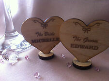 X1 Wedding Table Decoration Wooden Place Setting Name Plaque EACH