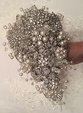 ❤️ Bridal Brooch Bouquet And Buttonhole Crystals And Pearls