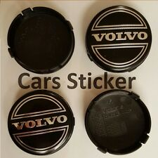 Set of 4 Volvo 64mm Black Alloy Wheel Centre Cap S40 S60 S80L XC60 XC90 S90 V70