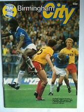1982/83 Birmingham City v Manchester United 1st Division