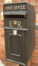 Replica Royal Mail ER Black Postbox Letter Box - Cast Iron - Lockable with Keys
