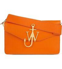 J.W.Anderson Orange Anchor logo leather shoulder bag. RRP £895.00
