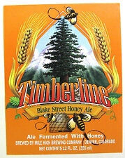 Mile High Brewing Co TIMBERLINE - BLAKE STREET HONEY ALE beer label CO 12oz