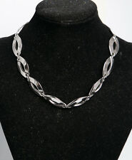 Monet 80's Heavy Silver Tone Link Necklace
