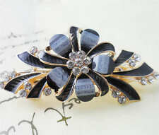 60MM crystal resin Flower hair barrette clip Hairpin  SF310