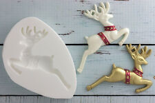 Silicone Mould, Christmas Reindeer Food Grade Ellam Sugarcraft M0048