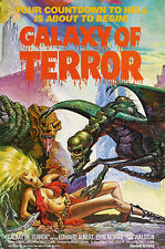 GALAXY OF TERROR movie poster LARGE FRIDGE MAGNET  -  CLASSIC!