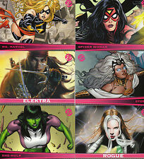 Marvel Dangerous Divas complete 72 card base set +P1 Promo