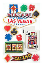 PAPER HOUSE LAS VEGAS NEVADA TRAVEL VACATION DIMENSIONAL 3D SCRAPBOOK STICKERS