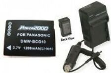 Battery + Charger for Panasonic DMC-ZS10R DMC-ZS10S