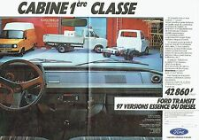 PUBLICITE ADVERTISING 0217  1982  Ford Transit  fourgons (double page) camions