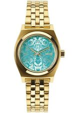Nixon Small Time Teller Gold Blue Beetlepoint