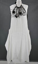 GERMAN  CHAMPAGNE LAGENLOOK PARACHUTE DRESS SZ L/XL IVORY 100% LINEN