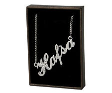 """Name Necklace """"HAFSA"""" - 18ct White Gold Plated - Swarovski Element - Accessories"""