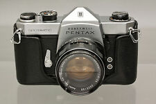 Asahi Pentax Spotmatic Manual Focus 35mm SLR Film Camera with Super-Takumar 55mm