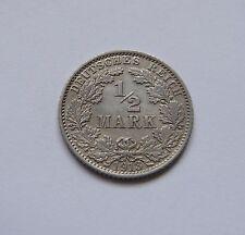 KAISERREICH: 1/2 Mark 1913 J, J. 16, fast stempelglanz, SELTEN !!!