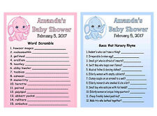 20 ELEPHANT BABY SHOWER GAME CARDS ~ PERSONALIZED