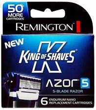 Remington King of Shaves Azor 5 Men's Shaver Replacement Cartridges 6 ct razor