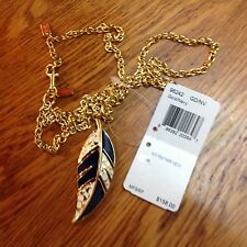 Coach Signature Feather Necklace 96242