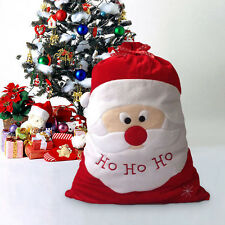 1 PCS Large Embroidered Personalised Christmas Santa Sack Stocking Gift Bag New