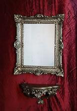 Miroir mural avec Console Miroir de salle de bain 56x46 ANTIQUE BAROQUE 811