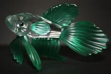 SWAROVSKI Green South Sea Siamese Fighting Fish Retired