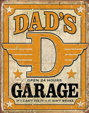 Dad's Garage Distressed Retro Vintage Tin Sign , 12.5x16