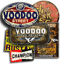 RAT STICKER PACK, RATTY SELF ADHESIVE, VOODOO + FREE CHAMPION STICKER! 6 total.