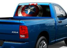 Captain America SHIELD Rear Window Wrap Graphic Decal Sticker Truck SUV