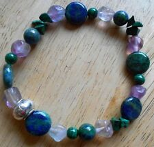 Malachite, Chrysocolla and Fluorite  Healing Crystal Bracelet a2