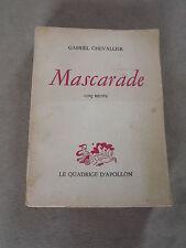 MASCARADE gabriel Chevallier cinq récits  D2