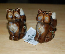 New With Tags Fox's Salt & Pepper Shakers With Christmas Holiday Holly