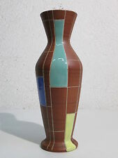 VASO DESIGN ANNI '60 IN CERAMICA TERRACOTTA SMALTATA FUTURISTICO GERMANY