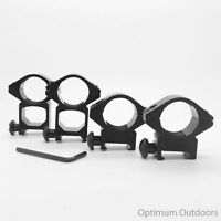 "High or Low Profile Rifle Scope Mounts fit 20mm Rail 25mm 1"" Ring Quick Detach"