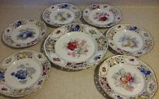 "Schumann DRESDEN/Bavaria articulated pierced Plate 7 piece Fruit 11+ 8.5"" mint"