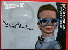 Thunderbirds 50 ANNI-David Graham (cervello) AUTOGRAFO CARD-CARTE inarrestabile