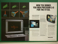 10/1984 PUB TEKTRONIX ENGINEERING SOFTWARE GRAPHICS 3-D TEK 4115B ORIGINAL AD