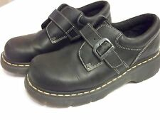 Dr Martens 3A78 Black Side Buckle Mens 9 Unnisex NICE Condition!